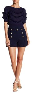 Lucy Paris Gold Shorts Navy