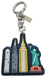 Coach leather liberty statue key fob/bag charm