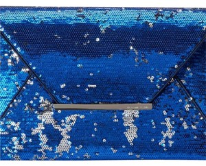 BCBGMAXAZRIA Blue and Silver Clutch