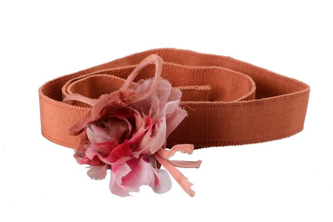 Item - Orange 'white' Women's Canvas Skinny Belt