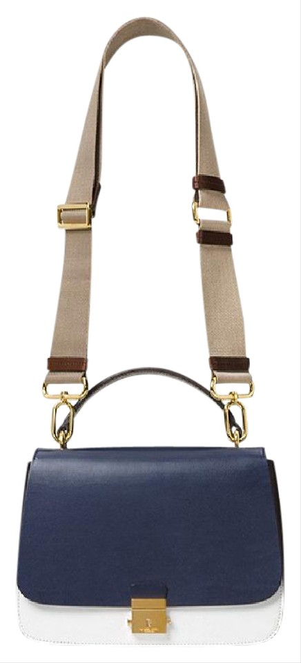 1e7132d55139 Michael Kors Mk Calf Leather Mia French 31s7gmal2t Satchel in Blue Image 0  ...