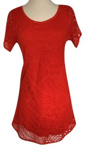 Ecote short dress vibrant orange Crochet on Tradesy