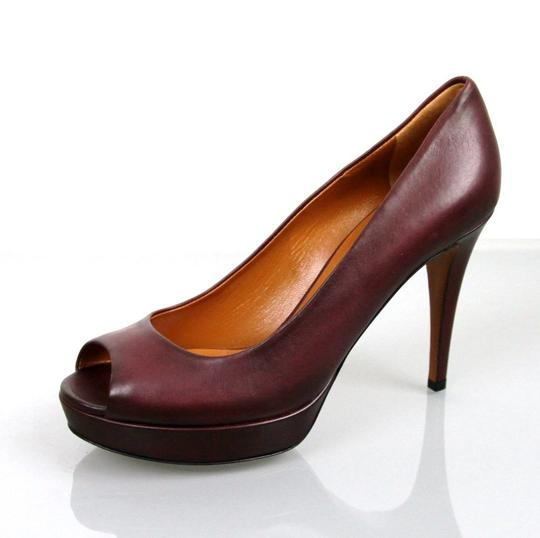 Gucci Betty Open-toe Platform Plum Pumps Image 6