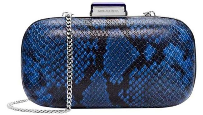 Item - Dome Electric Blue Leather Clutch