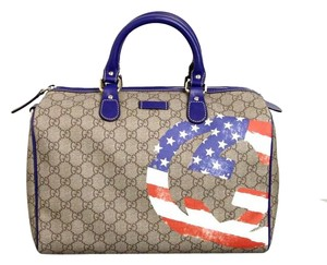 Gucci Joy Boston American Satchel in Beige/Ebony