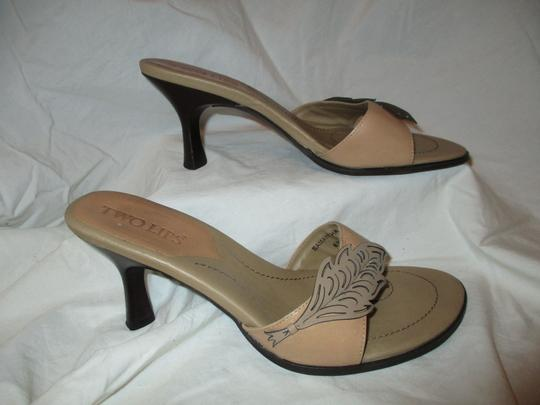 Two Lips Leather Hcrh tan Sandals Image 2
