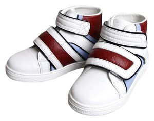 Gucci White/Blue/Red Kids Leather Coda Pop High-top Sneaker G 29/ Us 12 301353 301354 9096 Shoes