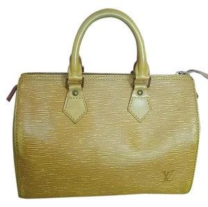 Louis Vuitton Vintage Speedy Epi Hobo Satchel in yellow