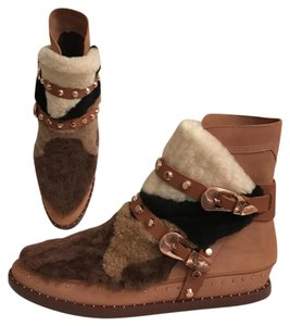 Ivy Kirzhner Leather Sheepskin Winter Comfortable Brown Multi Boots
