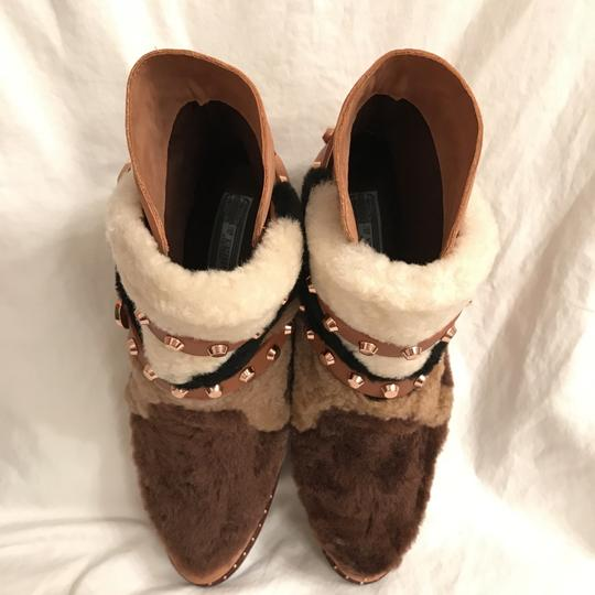 Ivy Kirzhner Leather Sheepskin Winter Comfortable Brown Multi Boots Image 2