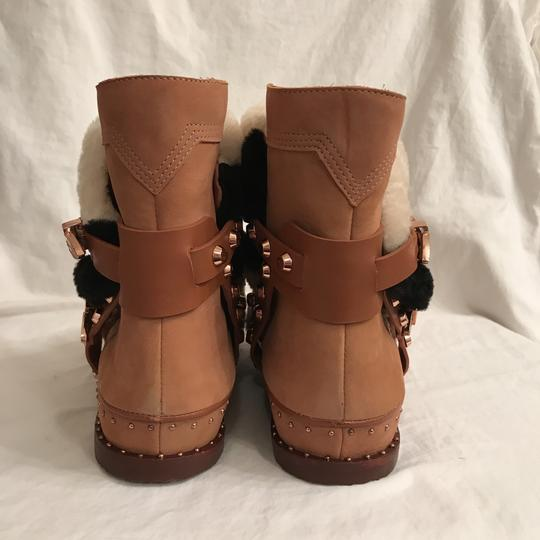 Ivy Kirzhner Leather Sheepskin Winter Comfortable Brown Multi Boots Image 4