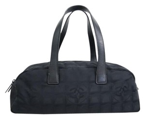 Chanel Mini Boston New Line Stock01910 Tote in Black