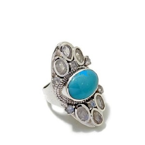Himalayan Gems Himalayan Gems Turquoise and Moonstone Ring
