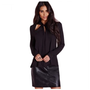Other Out Tie High Low Top Black