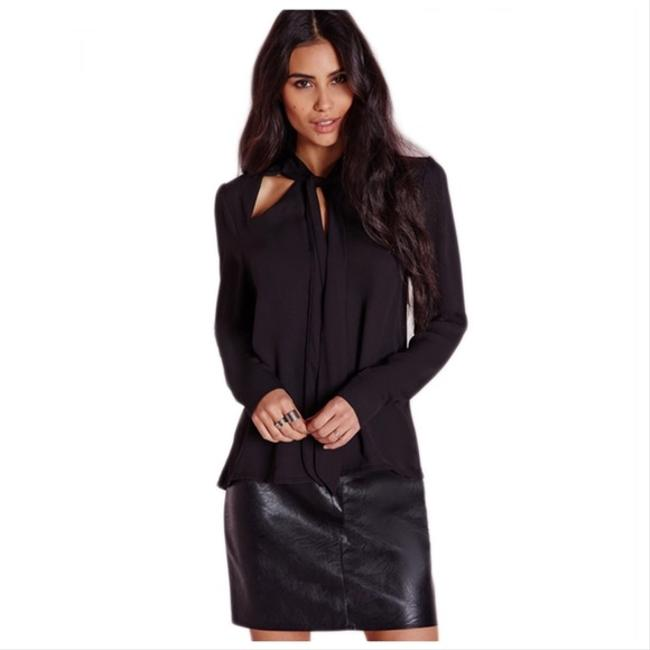 Preload https://img-static.tradesy.com/item/21747140/black-out-collar-tie-high-low-blouse-size-6-s-0-0-650-650.jpg