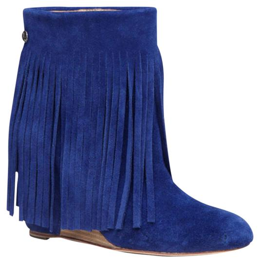 Preload https://img-static.tradesy.com/item/21747177/koolaburra-blue-zarin-fringe-in-sapphire-wedges-size-us-85-regular-m-b-0-1-540-540.jpg