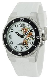 Ed Hardy Ed Hardy Female Fusion Flower Watch FU-FL White Analog