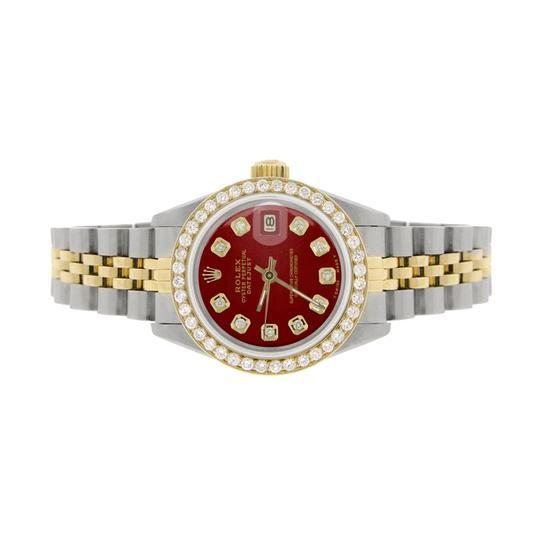 Rolex Rolex Datejust Ladies 2-Tone 26mm w/Red Diamond Dial & Bezel Image 1