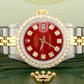 Rolex Rolex Datejust Ladies 2-Tone 26mm w/Red Diamond Dial & Bezel Image 7