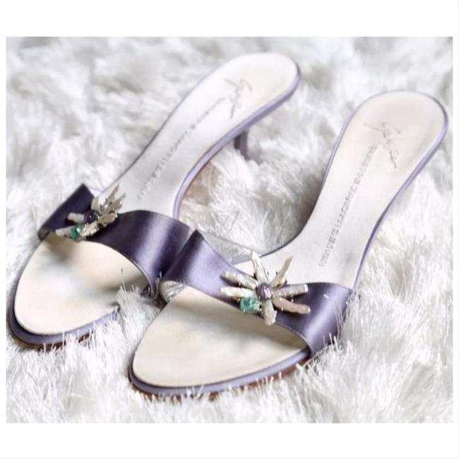 Item - Lilac Mother Of Pearl Mules/Slides Size US 8 Regular (M, B)