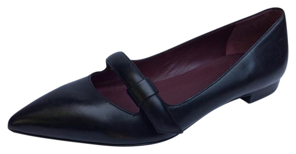 Marc Pointy by Marc Jacobs New Pointy Marc Toe Black Leather Flats 6718a8