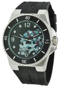 Ed Hardy Ed Hardy Male Fusion Skull Watch FU-SK Black Analog