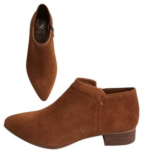 Vince Camuto Ankle Suede Leather Comfortable Brown Boots