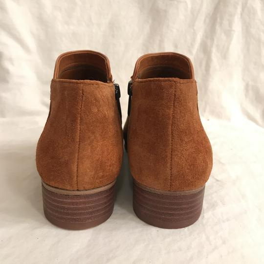 Vince Camuto Ankle Suede Leather Comfortable Brown Boots Image 4