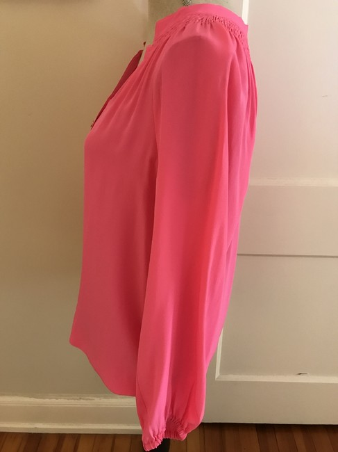 Lilly Pulitzer Pink Silk Summer Party Top Fuchsia