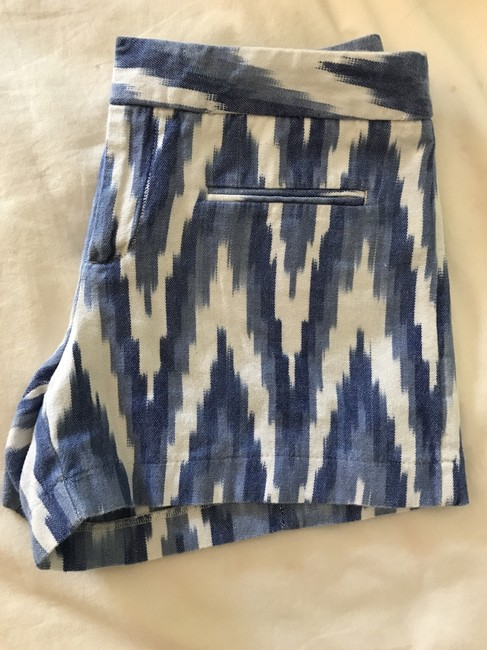 Gap Patterned Size Zero Mini/Short Shorts Blue and White