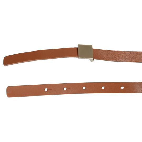 Hugo Boss Hugo Boss Women's Leather Light Brown Skinny Belt Image 1