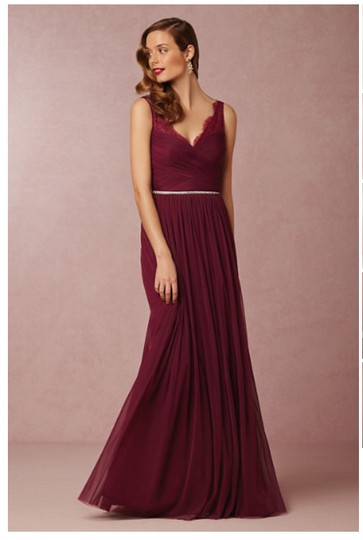 BHLDN Black Cherry Nylon Tulle Lace; Polyester Lining Fleur #33892415 Formal Bridesmaid/Mob Dress Size 12 (L) Image 4