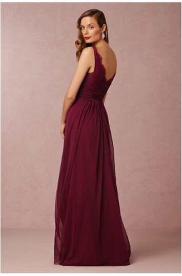 BHLDN Black Cherry Nylon Tulle Lace; Polyester Lining Fleur #33892415 Formal Bridesmaid/Mob Dress Size 12 (L) Image 5