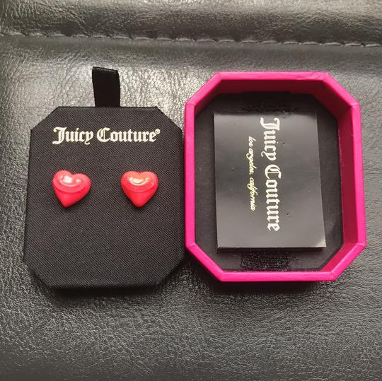 Juicy Couture Hot Pink Heart Earrings Image 1