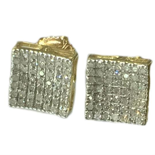 Others 10 K Yellow Gold Diamond Earring for Women Image 1