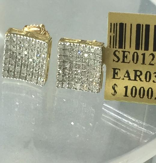 Others 10 K Yellow Gold Diamond Earring for Women Image 2