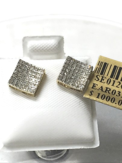Others 10 K Yellow Gold Diamond Earring for Women Image 8