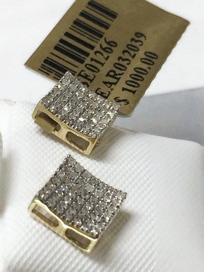 Others 10 K Yellow Gold Diamond Earring for Women Image 9