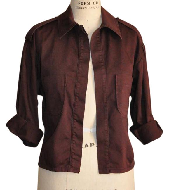 Preload https://img-static.tradesy.com/item/21748280/burgundy-jacketshirt-with-pockets-button-down-top-size-4-s-0-1-650-650.jpg