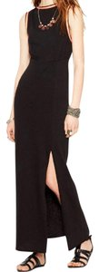 Black Maxi Dress by Free People Long Cotton Embroidered