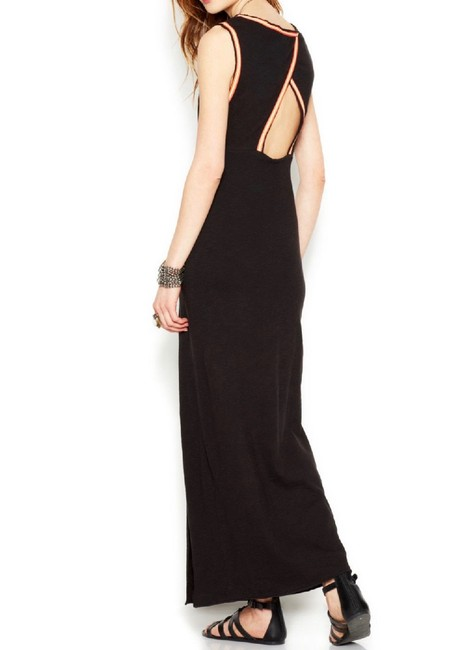 Black Maxi Dress by Free People Long Cotton Embroidered Image 1