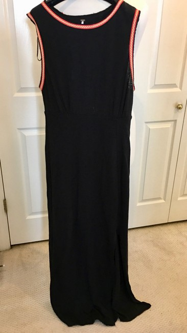 Black Maxi Dress by Free People Long Cotton Embroidered Image 2