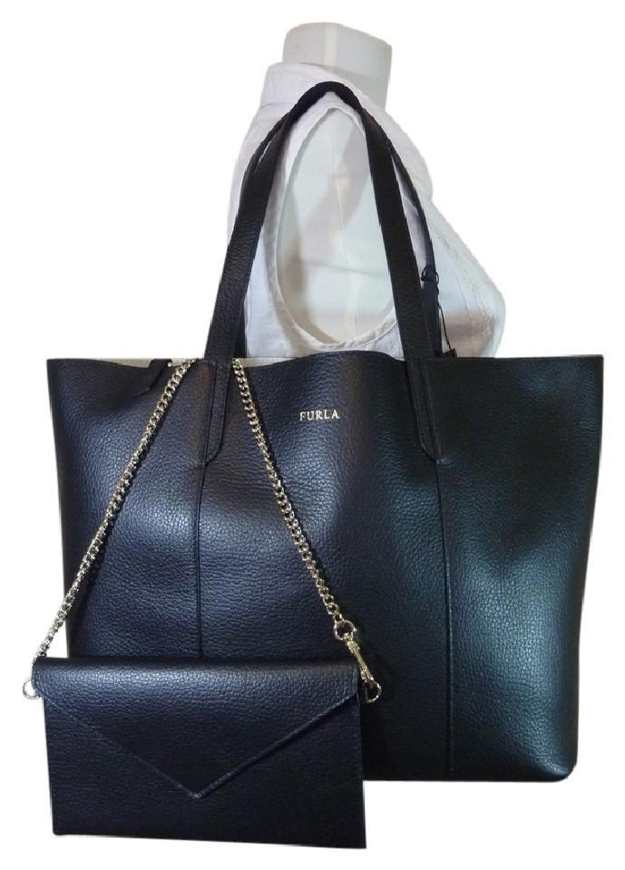 3fd38b1f2d Furla Large Elle Black Pebbled Leather Tote - Tradesy