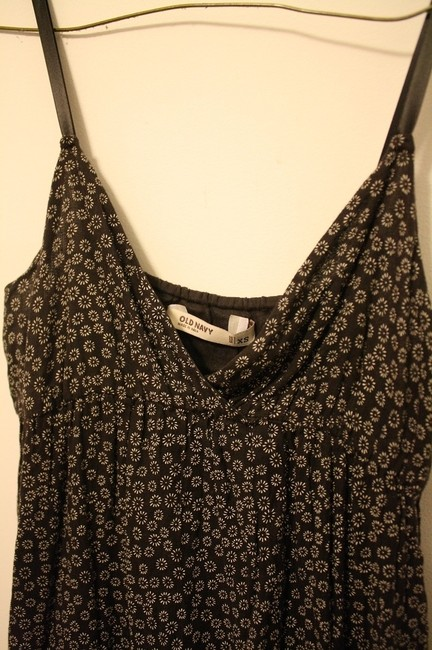 Black Maxi Dress by Old Navy Spaghetti Straps Mini Flowers Maxi Cotton