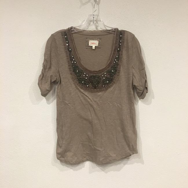 Anthropologie T Shirt Brown, Tan Image 1