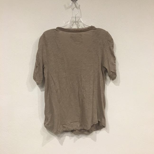 Anthropologie T Shirt Brown, Tan Image 3