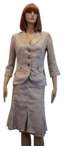 Max & Co. MAX & Co. BEIGE LINEN 2PC JACKET AND SKIRT SIZE 8 mk