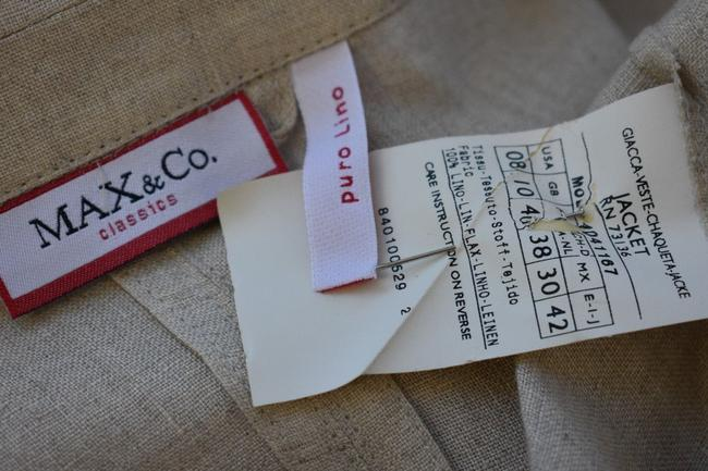 Max & Co. MAX & Co. BEIGE LINEN 2PC JACKET AND SKIRT SIZE 8 mk Image 1