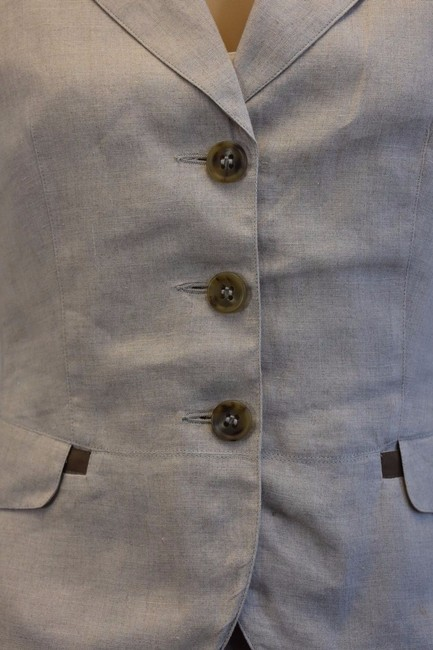 Max & Co. MAX & Co. BEIGE LINEN 2PC JACKET AND SKIRT SIZE 8 mk Image 7