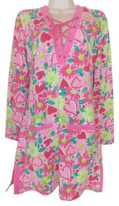 Lilly Pulitzer 3/4 Sleeve Cover Up Terry Cloth New With Tag Tunic